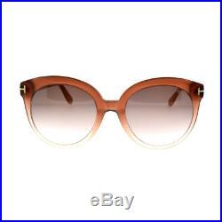Tom Ford FT0429 74F Pink Women's Full Rim Oval Sunglasses