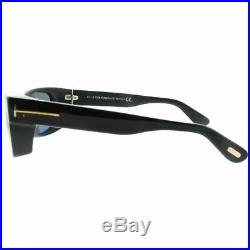 Tom Ford FT0440 01A Black Full Rim Rectangular 100% UV Gray Lens Men Sunglasses