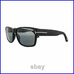 Tom Ford FT0445 02D Sunglasses Matte Black/ Smoke Polarized Lens Authentic