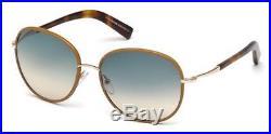Tom Ford FT0498 Georgia beige horn gradient blue 60W Sunglasses