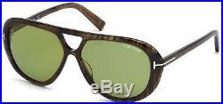Tom Ford FT0510 20N Marley Tortoise Green Aviator 59mm Sunglasses TF 510