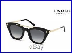 Tom Ford FT0575/S TF 575 01B ANNA-02 Black Grey Gradient Women Sunglasses Small