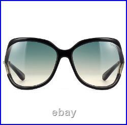 Tom Ford FT0578 01W Sunglasses Black Frame Green Gray Gradient Lenses 60mm
