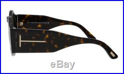 Tom Ford FT0603 52J Tatiana Dark Havana Round Sunglasses