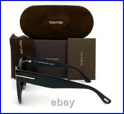 Tom Ford FT0612 01B Black / Gray 47mm Sunglasses TF0612
