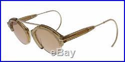 Tom Ford FT0631 45E Farrah-02 Light Brown/Gold Round Sunglasses