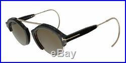 Tom Ford FT0631 52J 49MM Farrah-02 Dark Havana/Gold Round Sunglasses
