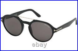 Tom Ford FT0696 01A Black Round Stan Sunglasses