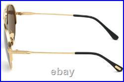 Tom Ford FT0734-H 30A Black/Gold Aviator Jet Sunglasses