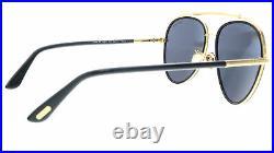 Tom Ford FT0748-F 01A Black/Gold Aviator Curtis Sunglasses