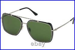 Tom Ford FT0750-F 01N Black/Grey Rectangle Lionel Sunglasses