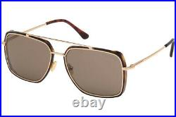 Tom Ford FT0750-F 52J Brown/Gold Rectangle Lionel Sunglasses