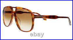 Tom Ford FT0753-D 53F Brown Aviator Raoul Sunglasses