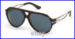 Tom Ford FT0778-52N-60 Sunglasses Size 60mm 135mm 12mm Dark Havana Brand New S