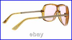 Tom Ford FT0800 45Y Brown Modified Rectangle Caine Sunglasses