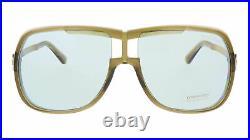 Tom Ford FT0800 95N Caine Light Green Pilot Navigator Sunglasses