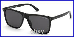 Tom Ford FT0832-N Fletcher Sunglasses, Shiny Black Square 57mm New & Authentic