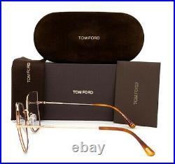 Tom Ford FT5630-B 053 Blonde Havana / Blue Block 56mm Eyeglasses TF5630-B