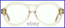 Tom Ford Fashion Frames TF514 Isla 074 Transparent Gray-Pink 56mm FT0514