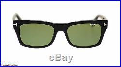 Tom Ford Frederick Men's Sunglasses FT0494 01N Shiny Black/Green Lens Rectangle