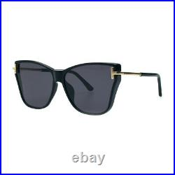Tom Ford Ft0808-k/s 01a Black Gold Women's Oversize Sunglasses Made In Italy