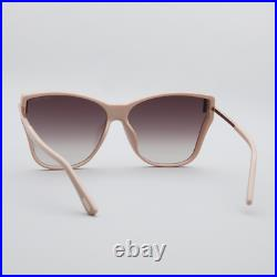 Tom Ford Ft0808-k/s 72g Beige Pink Gold Womens Oversize Sunglasses Made In Italy