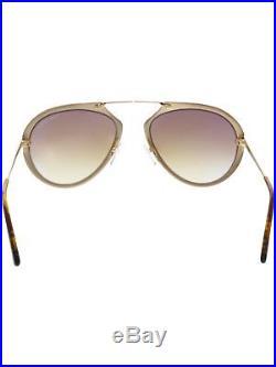 Tom Ford Gradient Dashel FT0508-28F-53 Gold Aviator Sunglasses