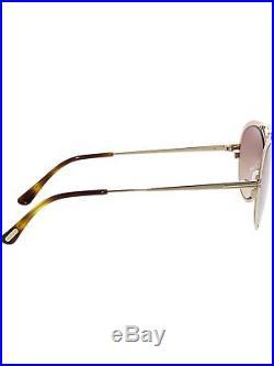 Tom Ford Gradient Dashel FT0508-28Z-53 Gold Aviator Sunglasses