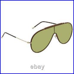 Tom Ford Green Shield Sunglasses FT0671 48N 137 FT0671 48N 137