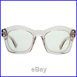 Tom Ford Greta TF 431 074 Clear Pink Women's Geometric Sunglasses