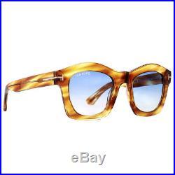 Tom Ford Greta TF 431 41W Honey Brown/Yellow Women's Geometric Sunglasses