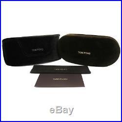 Tom Ford Greta TF431 41W 50MM Havana Brown Yellow Blue Sunglasses 50mm greta