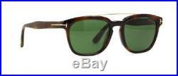 Tom Ford HOLT TF516 53N Havana Sunglasses Sonnenbrille Green Lens Size 54