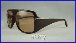 Tom Ford Harley TF 433 FT0433 48J Brown Frame Sunglasses Roviex Lens Size 60