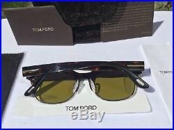 Tom Ford Harry Men's Dark Havana Green Lens Sunglasses TF597 52N RRP£290