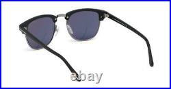 Tom Ford Henry 0248 02X Matt Black Sunglasses Sonnenbrille Blue Mirror Lens 51mm