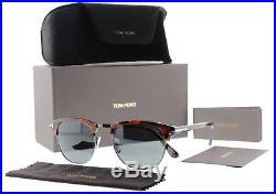 Tom Ford Henry TF 248 52A 53mm Havana Brown/Gray Browline Vintage Sunglasses