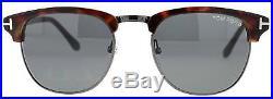 Tom Ford Henry TF 248 52A Gun Metal/Havana Men's Vintage Clubmaster Sunglasses