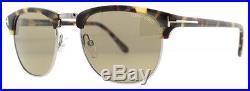 Tom Ford Henry TF248 55J Silver/Light Havana Men's Clubmaster Sunglasses