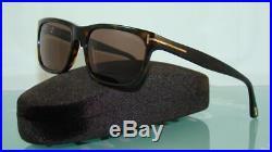 Tom Ford Hugh TF 337 56J Tortoise Sunglasses Brown Lenses Size 55