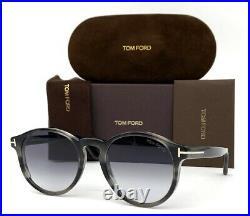 Tom Ford Ian FT0591 20B Stripped Gray / Gray Gradient 51mm Sunglasses TF0591