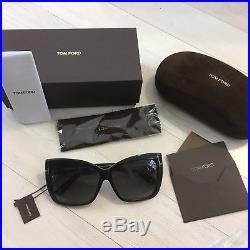 d331f33ff51ea Tom Ford Irina Sunglasses 59mm Polarized Black Oversized Square Women s NEW   455