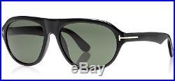 Tom Ford Ivan Men's Black Sunglasses FT0397 01N Made in Italy