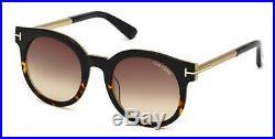 Tom Ford JANINA TF 435 FT0435 shiny blk gradient roviex 01K Sunglasses
