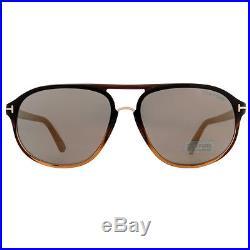 Tom Ford Jacob TF447 05C Black/Brown Gradient Aviator Sunglasses