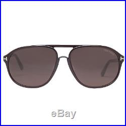 Tom Ford Jacob TF447-F 49J 61mm Shiny Dark Brown Men's Aviator Sunglasses