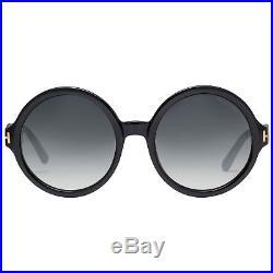 Tom Ford Juliet TF369 01B 55mm Black/Grey Gradient Women's Round Sunglasses