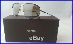 Tom Ford Justin Tf 467 50h Gold Matte Brown Polarized Lens Men's Sunglass Italy