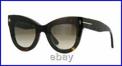 Tom Ford KARINA-02 FT0612S 52K 47 dark havana/roviex shaded (52K C) Sunglasses