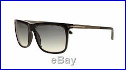 Tom Ford Karlie Men's Sunglasses FT0392 02W Black/Grey Blue Gradient Square 57mm